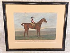 Hambletonian Horse Hand Colored Engraving after J Sartorius Framed