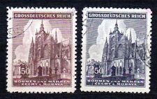 Germany / Bohmen und Mahren - 1944 St. Veits cathedral Prague Mi. 140-41 FU