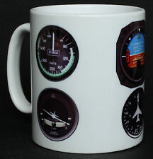 Aircraft / Aeroplane Instruments Pilot Flying Gift Mug