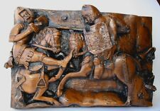 Knight's Jousting Medieval carving Tournament Plaque UK