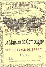 Etiquette de vin - Wine Label - La Maison de Campagne