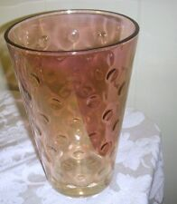 "20th century 8 1/2"" CRANBERRY FLASH COIN DOT VASE"