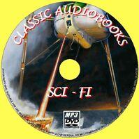 17 CLASSIC SCI-FI NOVELS MP3 UNABRIDGED AUDIO BOOKS DVD ROM NEW SCIENCE FICTION