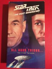 Star Trek The Next Generation Episodes 177 & 178 All Good Things VHS GOOD