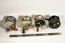 Vintage Pflueger Surf Casting Reel & Castey SUrf Casting Lot of 4 JD3