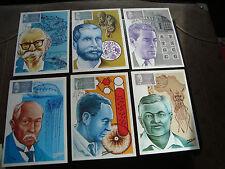 FRANCE - 6 cartes 1er jour 21/2/1987 (personnages celebres) (cy45) french