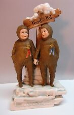Rare ERNST WAHLISS Nansen & Andree Polar Expedition Figural Group  c. 1890