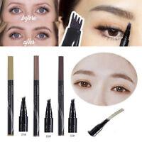 New Lasting Waterproof Tattoo Eyebrow Liquid Ink Pens 4 Fork Pencil Brow Definer