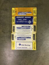 """5 Boxes Of 10 TIG Welding Tungsten Electrode 1% Thoriated Yellow 5/32"""""""