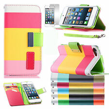 Leather Wallet Stand Case Cover For Apple iPod Touch 7th 6th 5th 4th Generation