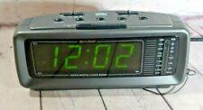 Lenoxx Sound Model CR-776 AM/FM Alarm Clock Radio Large LED Display Vintage