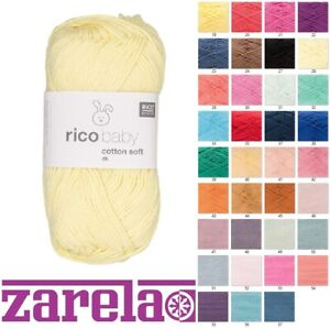Rico Baby Cotton Soft DK Knitting Yarn ***** ALL COLOURS *****