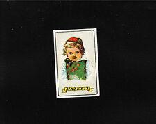 VINTAGE Match Matchbox Label DEEP RICH COLOR Mazetti Child Native Costume B1