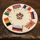 Goss Crested Flags Of The Allies WWI Plate Abergavenny