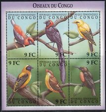 Congo Dem.Rep Souv.Sheet Beautiful Birds MNH