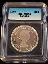 1964 Canadian $1 Coin ICG - MS63 (C318)