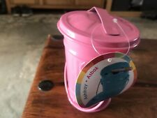 Pink Colour Mini Metal Ashtray with Lid.  Brand New with Tags.
