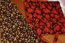 retro vintage corduroy orange yellow floral