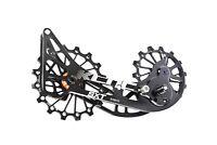 KCNC SXT Chape Galets Oversized Vélo VTT OPWS pour Shimano Deore XT M8000 Noir