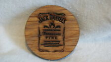 Jack Daniels SHOT GLASS COASTER TENNESSEE FIRE - NEW! Made from Whiskey Barrel!