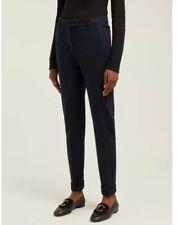 Max Mara Pants Studio Canosa Trouser Knitted Navy Sz 12 Narrow Tapered