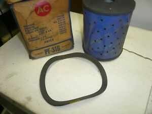 1946 - 1956 Chrysler, 1952 DeSoto NOS AC Oil Filter PF 319 5572302 - Two for One