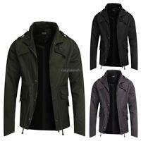 Men's Fashion casual Coat Spring Trench Coat Overcoat Warm slim Long Jacket