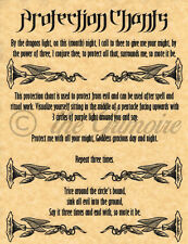 PROTECTION CHANT, Book of Shadows Spells Pages, Witchcraft, Wicca, Pagan