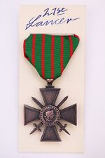 WW1 FRENCH CROIX DE GUERRE MEDAL CROSS OF WAR WORLD WAR ONE FRANCE