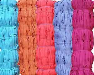 6mm Flat Colour Elastic Cord Quality Sewing Tailoring Dressmaking Masks Crafts