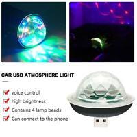 Mini Small USB LED Light Auto Car Interior Light Neon Atmosphere Ambient Lamp