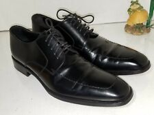 TO BOOT NEW YORK ADAM DERRICK black leather oxfords dress shoes mens Size 8