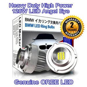 Heavy Duty 160W 7000K True White CREE LED BMW Angel eyes Halo Marker E60 LCI 61