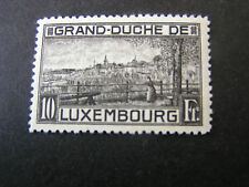 LUXEMBOURG SCOTT # 152, 10fr. VALUE BLACK 1923 VIEW OF LUXEMBOURG ISSUE MVLH