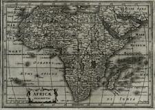 African continent 1628 Johannes Janssonius A. Goos miniature map