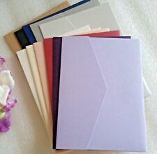Pocket Fold Invitations Card & Envelope Wedding Pocketfold Invites Pearl Shimmer