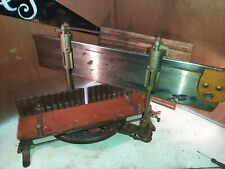 _ Antique Stanley miter box No.244 with/ Disston and sons saw. Very nice set.