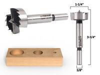 """1-1/4"""" Diameter Steel Forstner Drill Bit - 3/8"""" Shank - Yonico 43019S"""