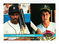 Cecil Fielder/Jose Canseco (1991 Stadium Club) AL HR Leaders, Tigers/Athletics