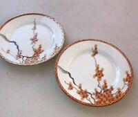 """Vintage Japanese Kutani 6"""" hand painted 2 plates"""
