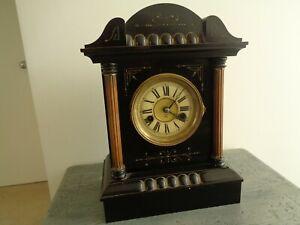 ANTIQUE GERMAN HAC MANTEL CLOCK