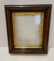 Vintage Antique Wood Gold Gilt Deep Well Picture Frame Wooden Eastlake Victorian