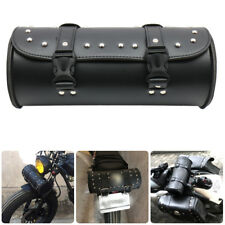 Motorcycle Handlebar Sissy Bar Side Tool Saddle Fork Roll Barrel Bag For Harley