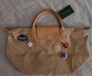 Sac Longchamp série limitée beige  grand modèle M ***** Neuf