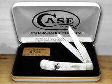 CASE XX White Pearl Deer Scene Trapper Pocket Knives 6073WP Knife