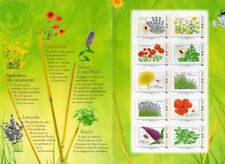 FRANCIA - Minifoglio con 10 valori sui fiori di cui 5 con semi da piantare