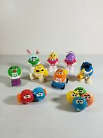 9 M&M Toy FiguresBurger King 1990s Mixed Lot of Dispensers Vintage