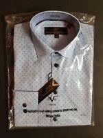 Versace Abbigliamento V 1969 Mens Dress Shirt  VE1-14A Blue Sm & Med NWT Easter