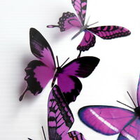 12 Pack Butterflies - Plum - 5 to 6 cm - Cakes, Weddings, Crafts, Cards,