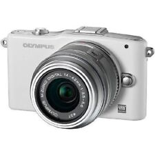 USED Olympus E-PM1 12.3MP with 14-42mm White Excellent FREE SHIPPING
